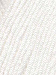 Babe Softcotton Worsted Yarn # 01 Snow White - Mad Knitter's Yarn