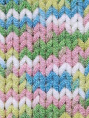 Babe Softcotton Yarn # 208 White, Pink, Blue, Green - Mad Knitter's Yarn