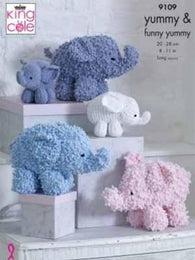 King Cole Knit Elephants Pattern #9109