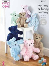 King Cole Knit Teddy Bears Pattern #9137