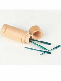 The Mindful Darning Needles in Beech Wood Container