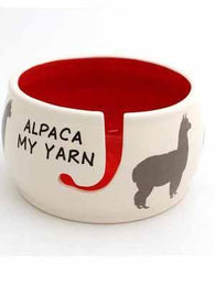 Alpaca My Yarn  Ceramic Yarn Bowl - Mad Knitter's Yarn