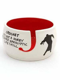 Crochet is Not A Hobby Ceramic Yarn Bowl - Mad Knitter's Yarn