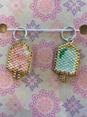 Ice Cream Beaded Stitch Markers - Mad Knitter's Yarn