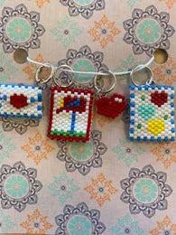 Love Notes Beaded Stitch Markers - Mad Knitter's Yarn