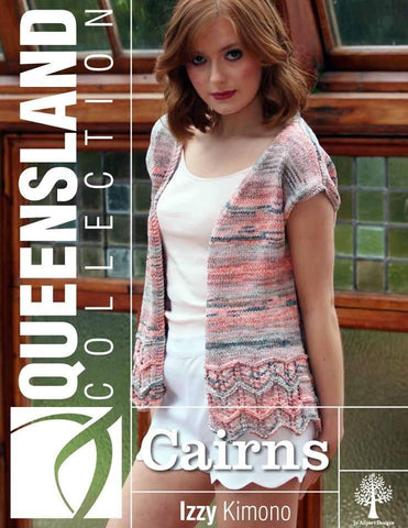 Queensland Collection Cairns cropped top, Kimono, and Lace Scarf Pattern Leaflette