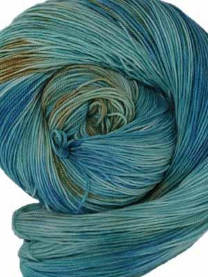 A Year in Color ~Birthstones~ Aquamarine #171 | Wonderland Yarns Mad Hatter - Mad Knitter's Yarn