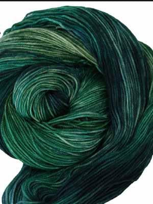 A Year in Color ~Birthstones~ Emerald #173 | Wonderland Yarns Mad Hatter - Mad Knitter's Yarn