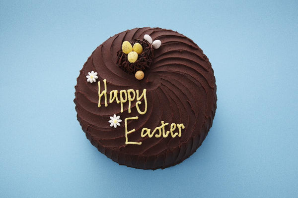 The making of our Easter Chocolate Cake
