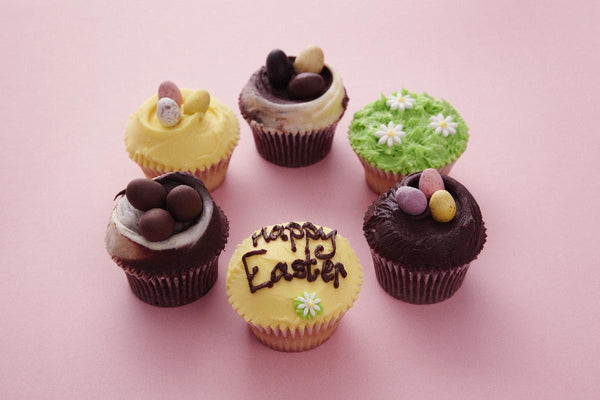 Easter Hand Decorated cupcakes now in-store
