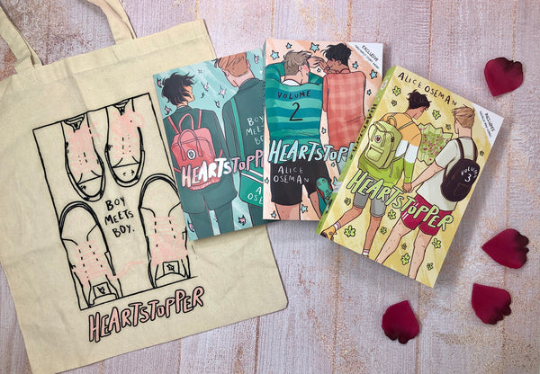 Win Heartstopper books, tote bag and £50 Hummingbird Bakery voucher
