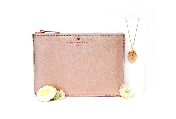Win a Johnny Loves Rosie Rose Gold Pouch and Locket Necklace and £30 Hummingbird Bakery vouchers
