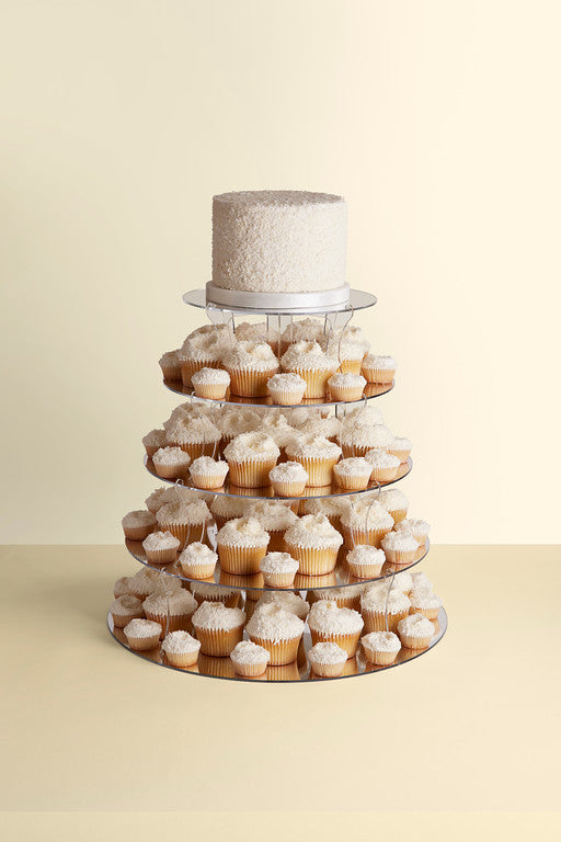 wedding cake cupcake tower 1