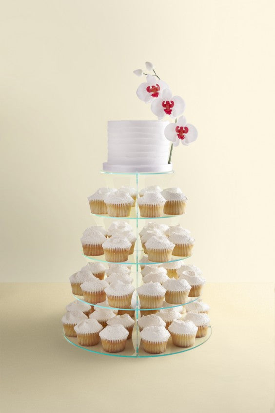 orchid wedding cupcake tower