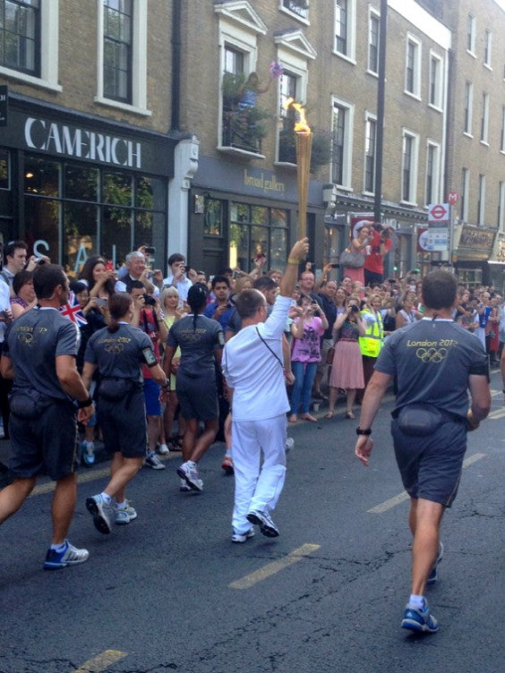 The Hummingbird Bakery Olympic Torch Back 2