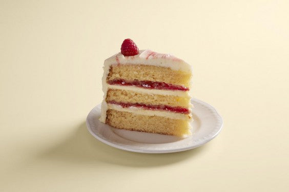 lemon and raspberry ripple cake slice