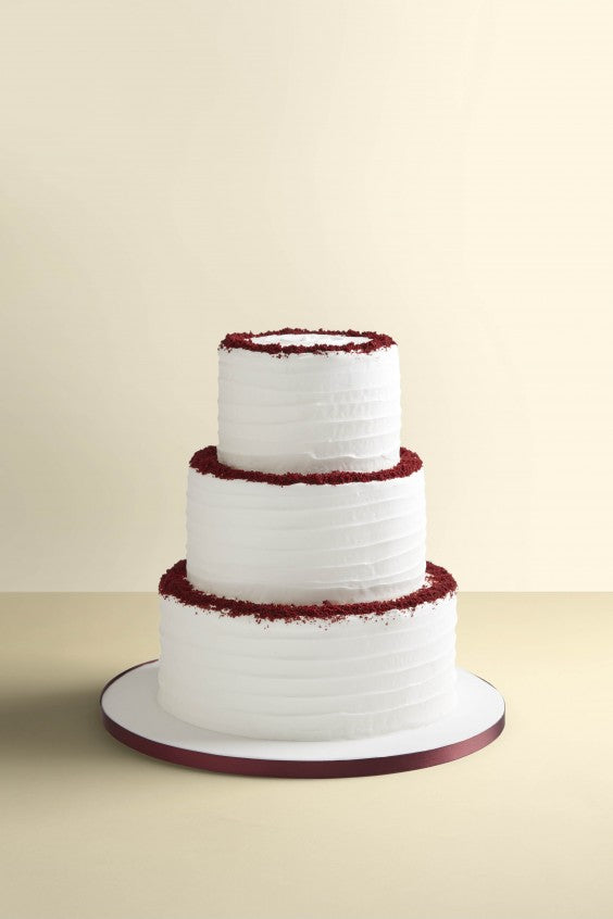 wedding cake 3 tier red velvet