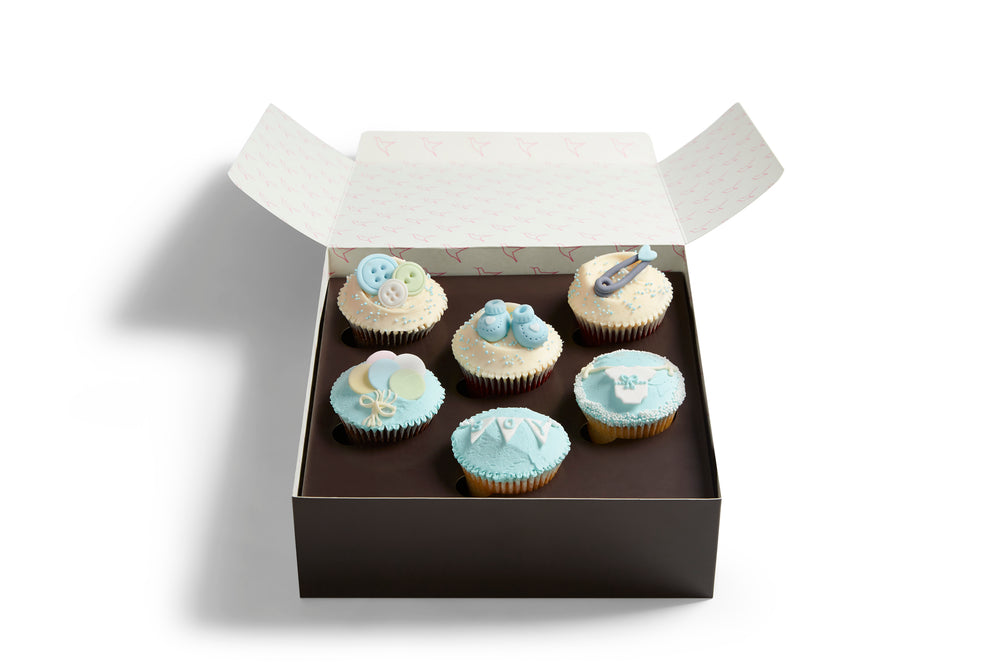 Blue Baby Shower Cupcake Selection Box