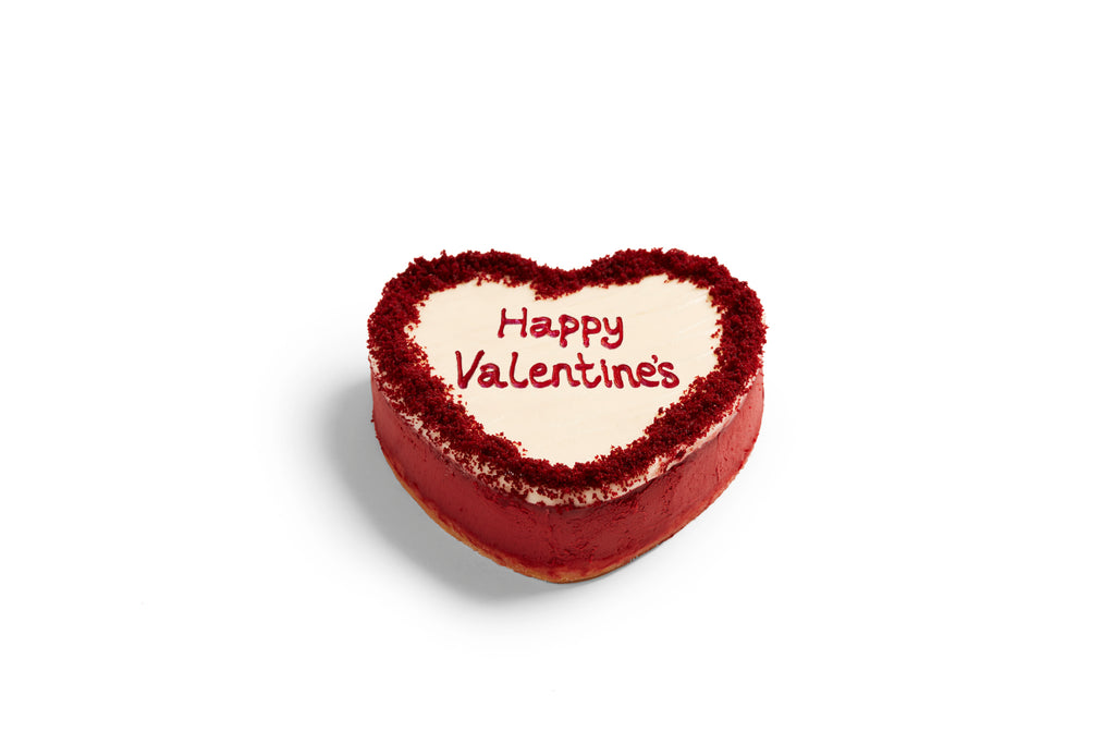 Valentine's Red Velvet Heart Cheesecake