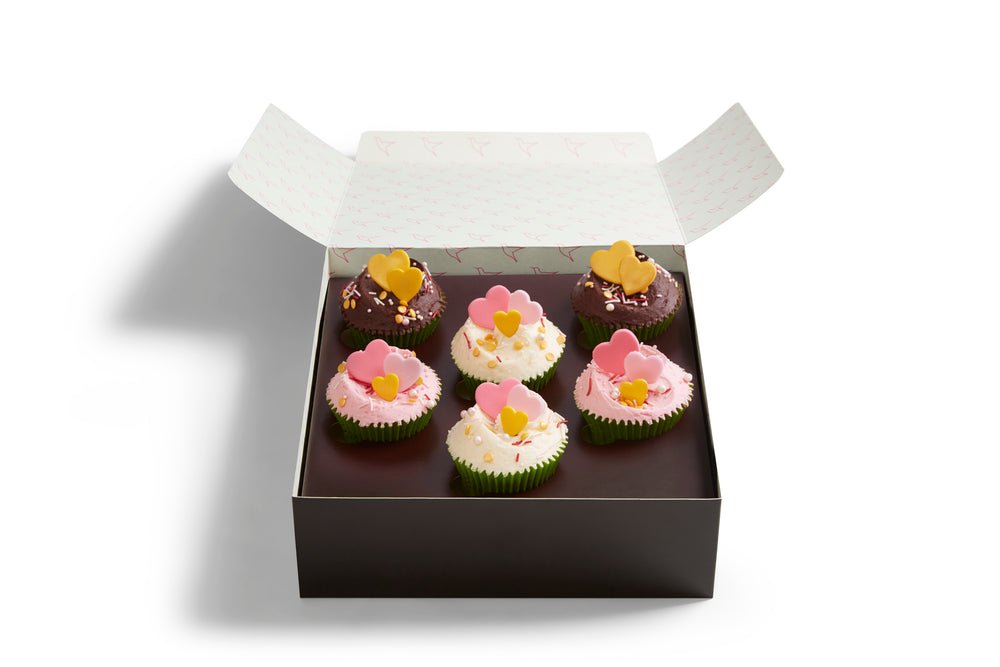 Vegan Valentine's Cupcake Selection Box