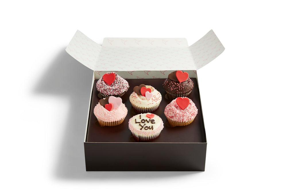 Valentine's I Love You Cupcake Selection Box