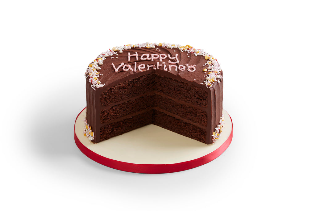 Vegan Valentine's Chocolate Cake