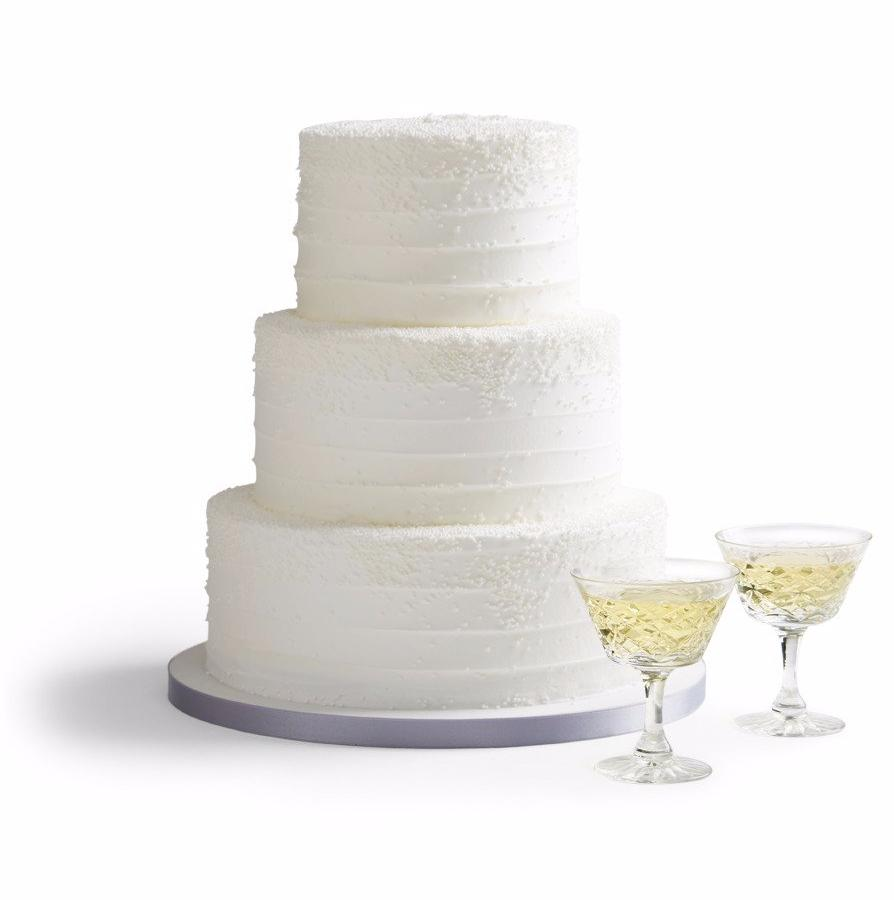 Snowfall Wedding Cake