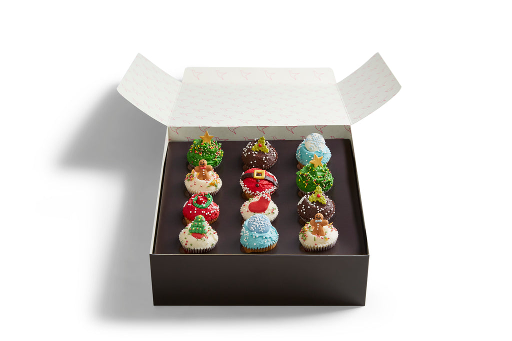 Christmas Mini Cupcakes Selection Box