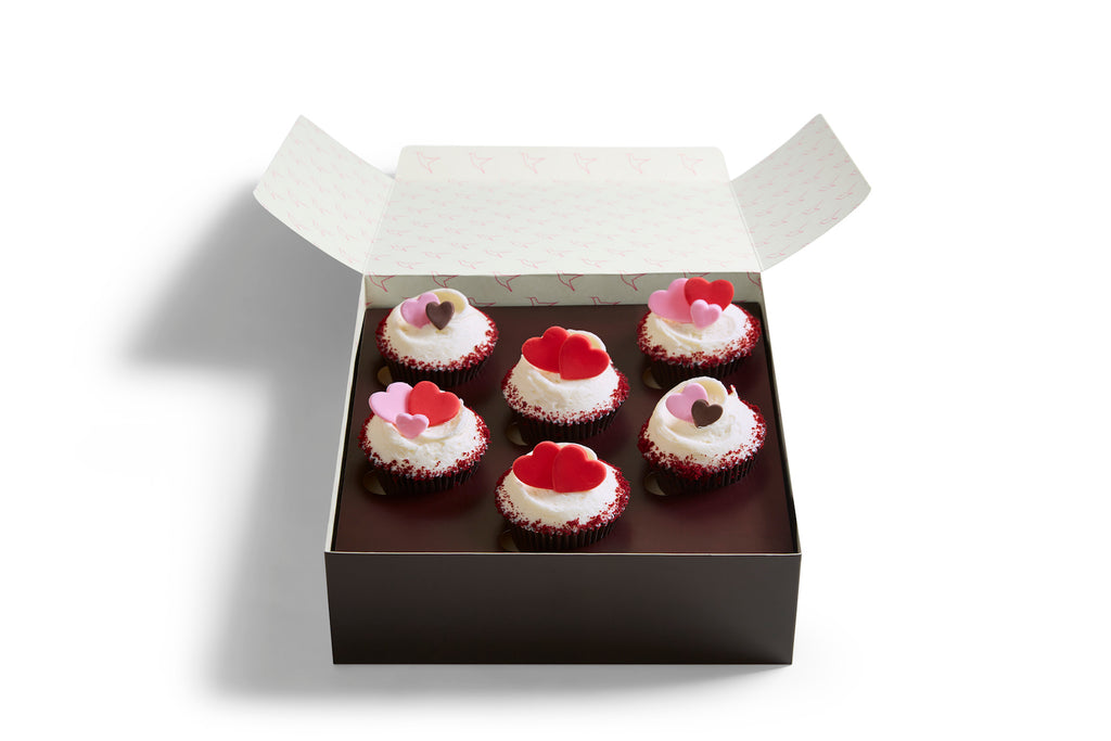 Small Made Without Gluten Heart Cupcake Box