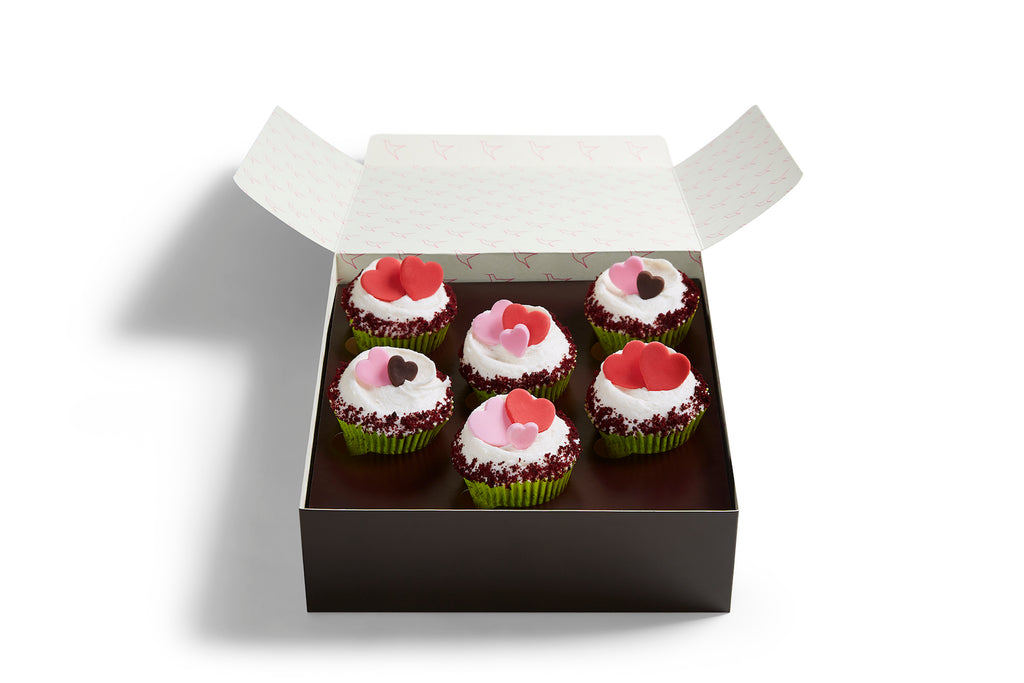 Small Vegan Heart Cupcake Box