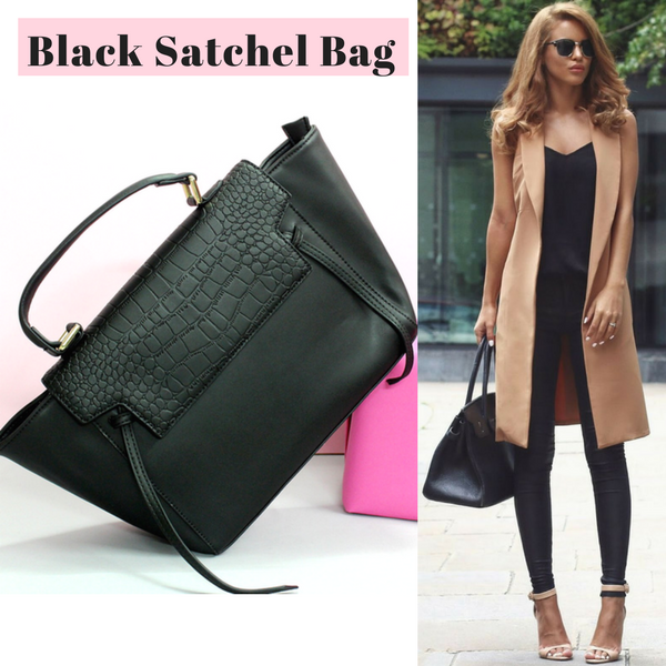 Edge Satchel Handbag