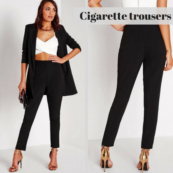 Formal tailored cigarette trousers