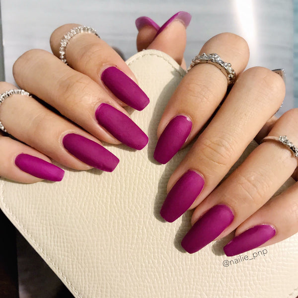 Purple Rose Matte Nail Polish