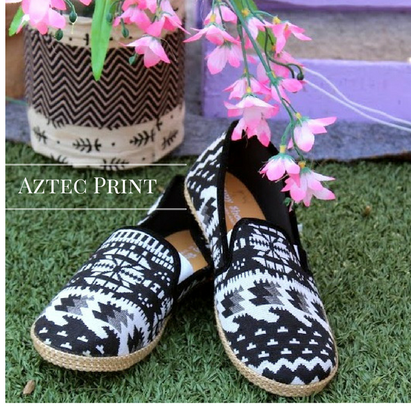 Aztec Print Loafers
