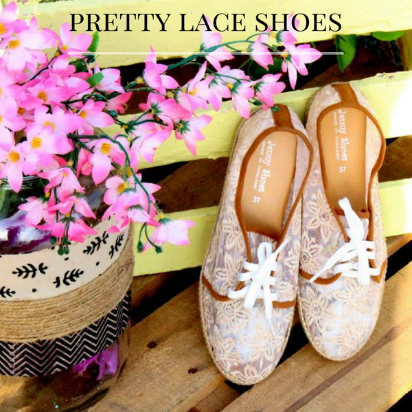 Pretty Nude Pink Lace Shoes
