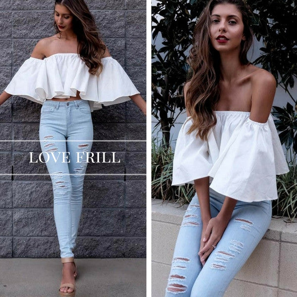 White Chic Off Shoulder