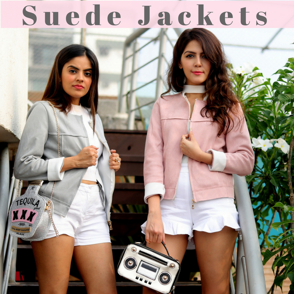 Pretty Pastel Suede Jackets