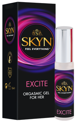 Bonus SKYN® Excite Orgasmic Gel for Her 15ml and SKYN® 80ml lube bundle plus 5 pack condoms