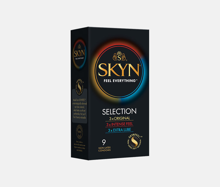 SKYN® SELECTION 9 PACK OF NON LATEX CONDOMS