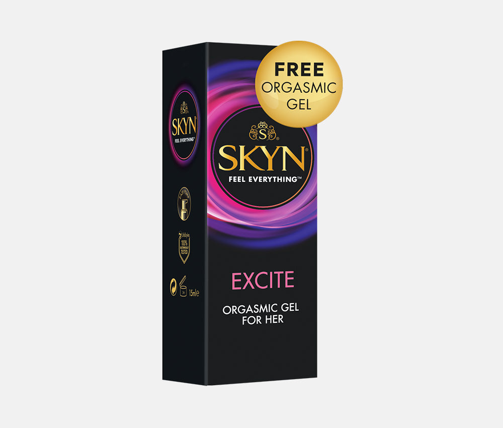 SKYN® Large Non Latex Condoms - 6 x 10 Pack of 60 + Free 80ml Lube, Orgasmic Gel for Her