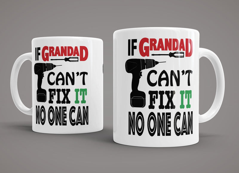King Mugs If Grandad Can't Fix It No one Can Mug - Pig Emporium