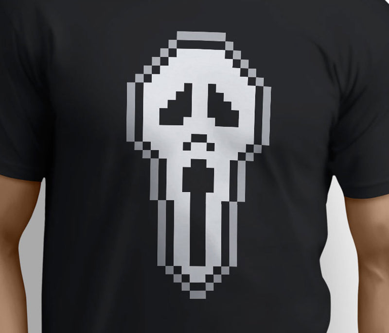 8 Bit Scream – Fun Parody inspired Scream Horror design Art – T-shirts - Pig Emporium