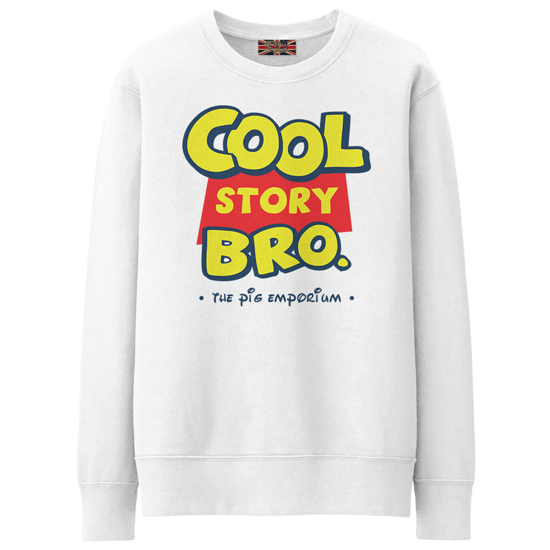 Parody inspired Logo Cool Story Bro. - Crew Sweat