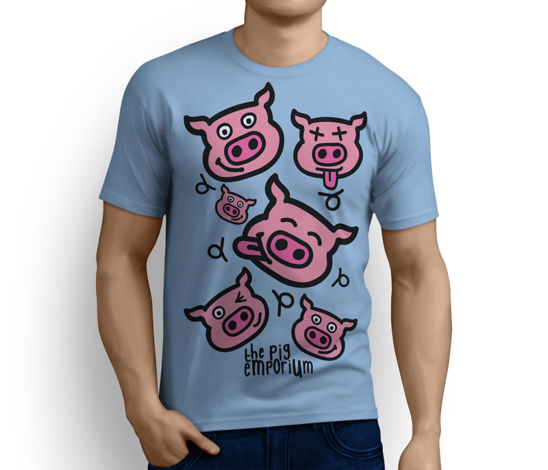 The Pig Emporium Faces Logo Tee