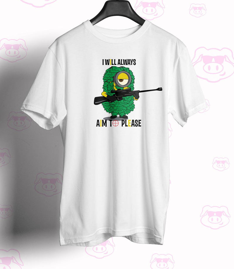 Despicable Inspired Aim to Please - Sniper Unisex Tshirt