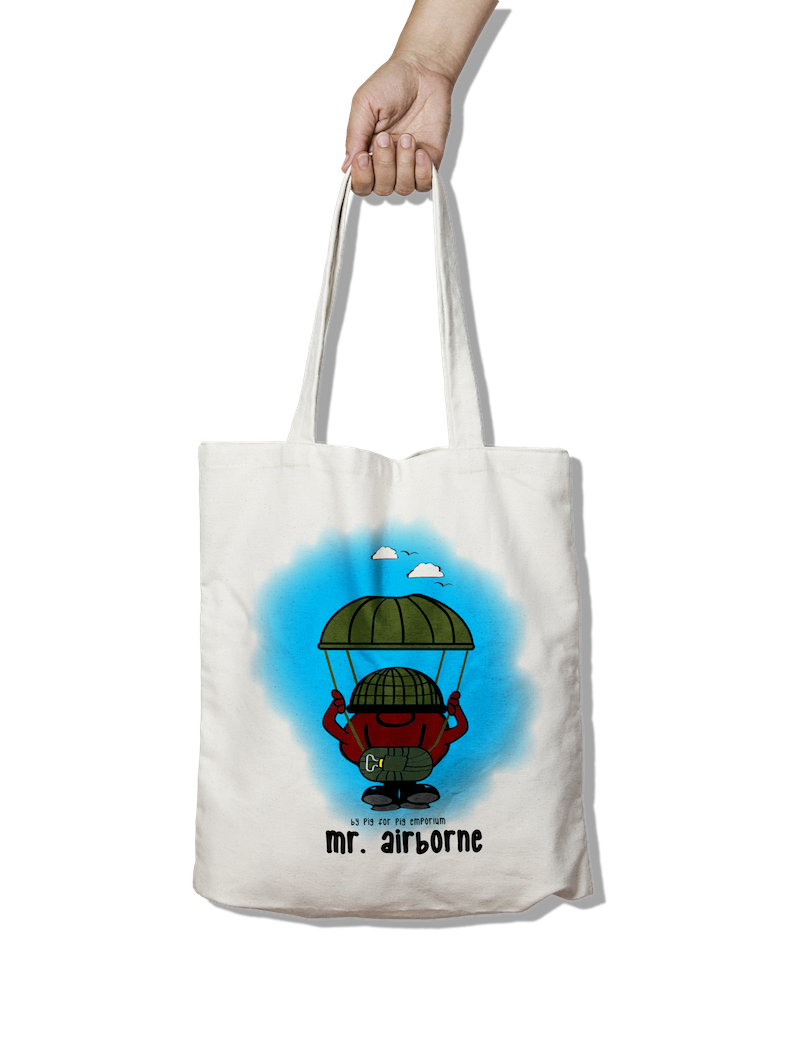 Mr. Airborne Balloon Jump - Tote Bag - Pig Emporium