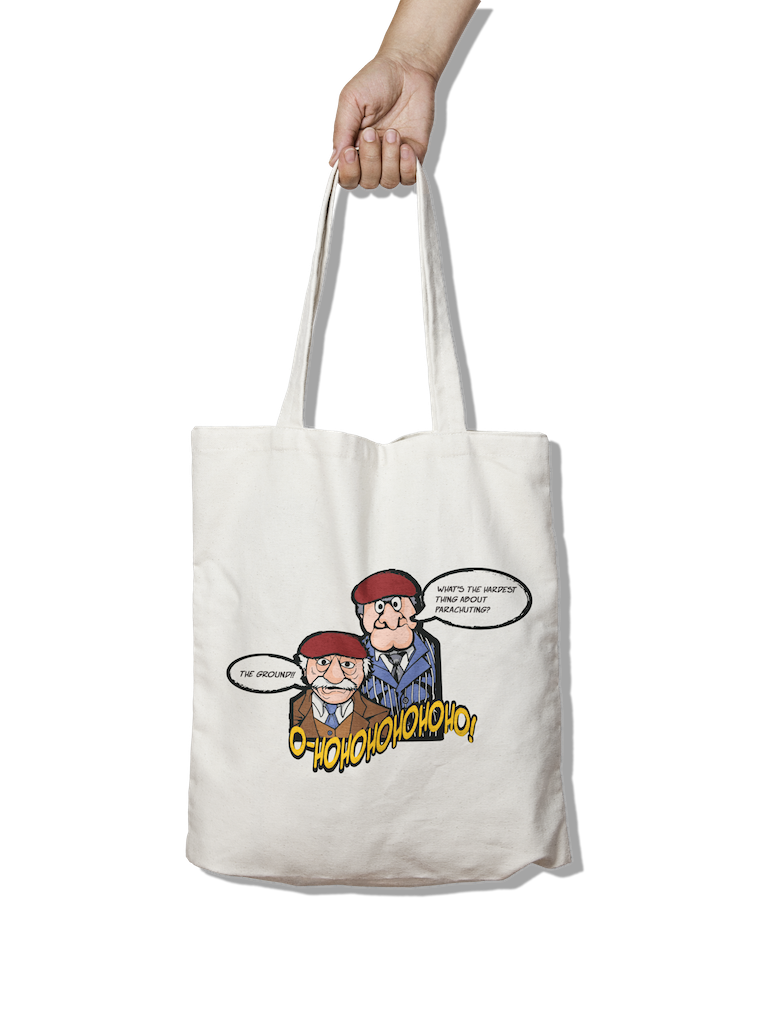 SnM Airborne Parachuting Joke -  Tote Bag