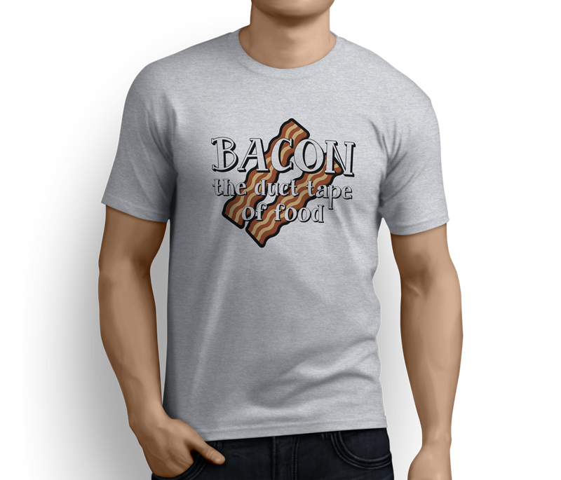 Bacon the duct tape for food Unisex T-shirts - Pig Emporium