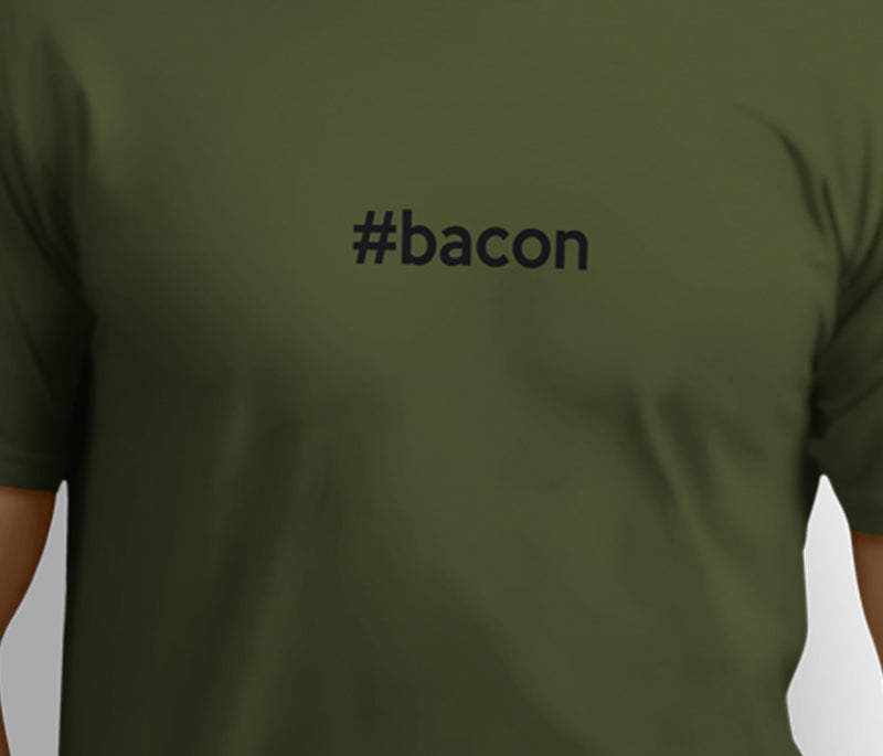 #Bacon  – Unisex T-shirts