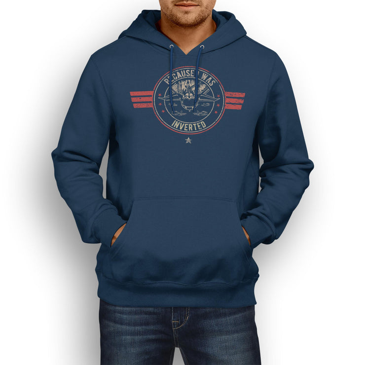 Inspired by Top Gun Because I was Inverted Fan Art Unisex Hoody - Pig Emporium